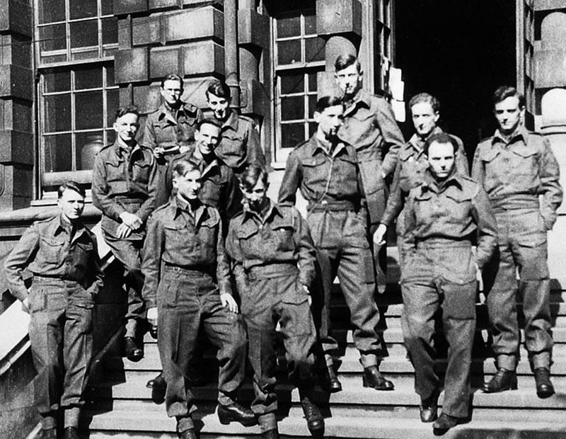 Bergen-Belsen group photo.